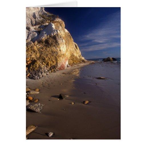 Martha's Vineyard Clay Cliffs and Beach Greeting Cards