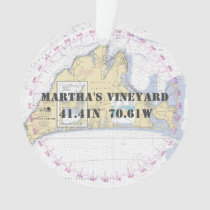 Martha's Vineyard Commemorative Nautical 2-Sided Ornament