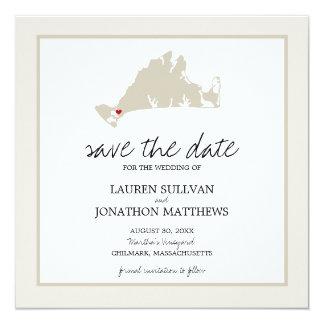 """Martha's Vineyard de Chilmark que casa reserva la Invitación 5.25"""" X 5.25"""""""