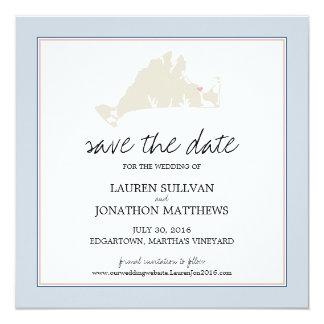 """Martha's Vineyard de Edgartown que casa reserva la Invitación 5.25"""" X 5.25"""""""