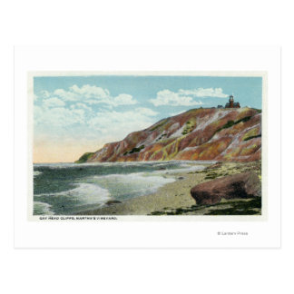 Martha's Vineyard, Gay Head Cliffs View Postcard