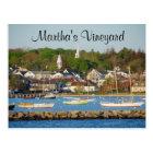 Martha's Vineyard Harbor Cape Cod Mass Post Card