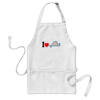 "Martha's Vineyard ""I Love"" Design. Adult Apron"