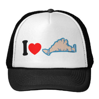 "Martha's Vineyard ""I Love"" Design. Trucker Hat"