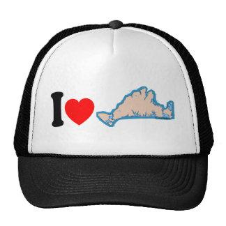 "Martha's Vineyard ""I Love"" Design. Trucker Hat"