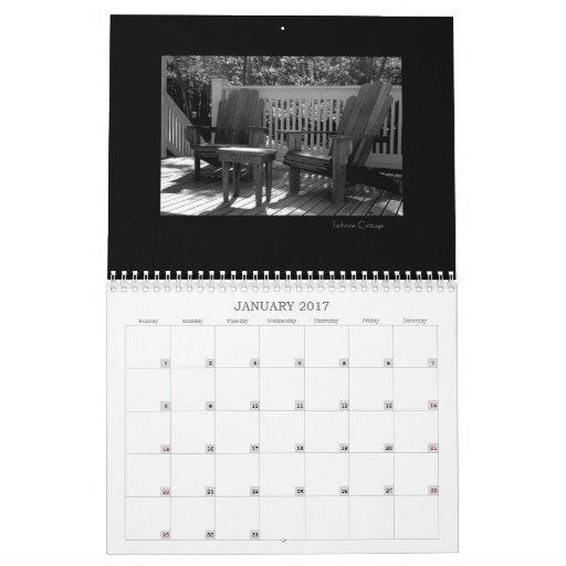 Martha's Vineyard Island Black & White Calendar