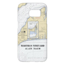Martha's Vineyard Latitude Longitude Boater's Samsung Galaxy S7 Case