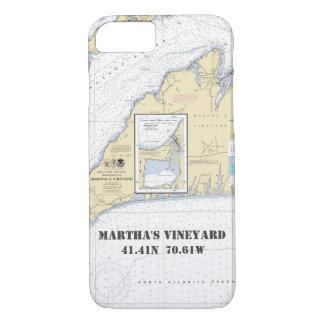 Martha's Vineyard Latitude Longitude Nautical iPhone 8/7 Case