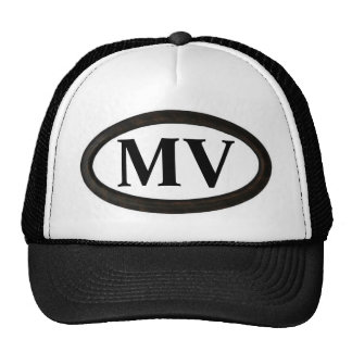 "Martha's Vineyard, mA ""milivoltio "" Gorros Bordados"