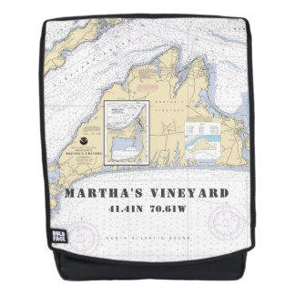 Martha's Vineyard MA Nautical Coordinates Backpack