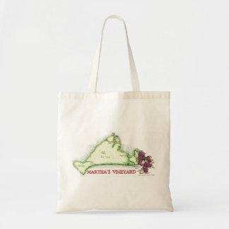 Martha's Vineyard Map Canvas Bag