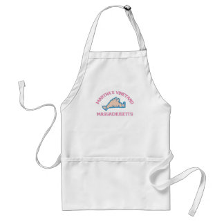 "Martha's Vineyard ""Map"" Design. Adult Apron"