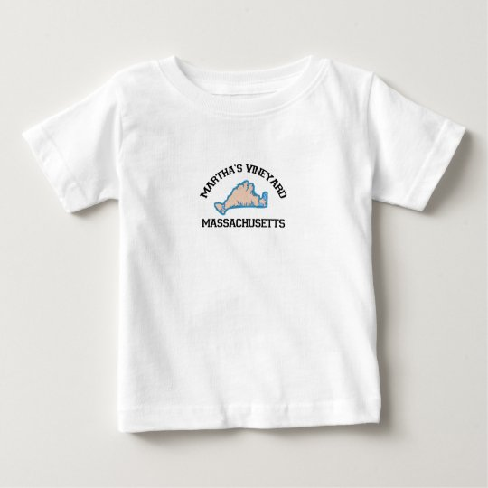 "Martha's Vineyard ""Map"" Design. Baby T-Shirt"