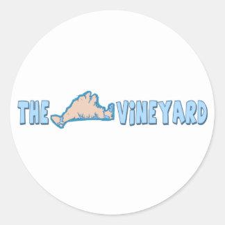 """Martha's Vineyard """"Map"""" Design. Classic Round Sticker"""