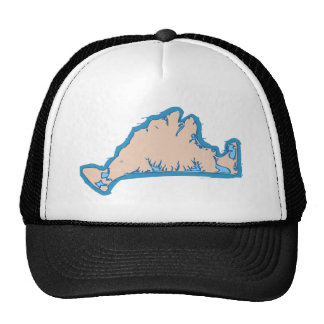 "Martha's Vineyard ""Map"" Design. Trucker Hat"