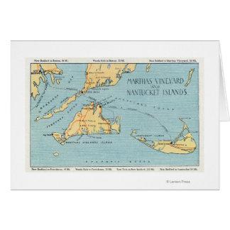 Martha's Vineyard & Nantucket Islands Card