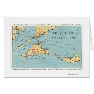 Martha's Vineyard & Nantucket Islands Greeting Card