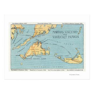 Martha's Vineyard & Nantucket Islands Postcard