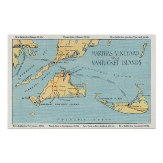 Martha's Vineyard & Nantucket Islands Print