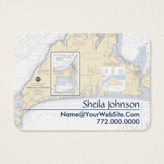 Martha's Vineyard Nautical Chart Clean Fresh Business Card