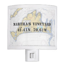 Martha's Vineyard Nautical Chart Coordinates Night Light