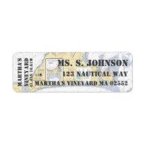 Martha's Vineyard Nautical Navigation Chart Label