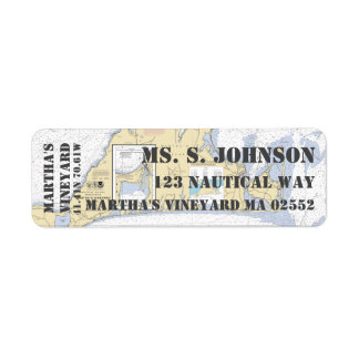 Martha's Vineyard Nautical Navigation Chart Label