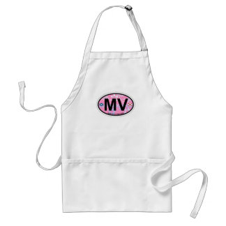 Martha's Vineyard Oval Design. Adult Apron