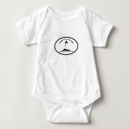 Martha's Vineyard Oval Design. Baby Bodysuit