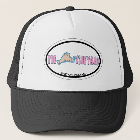 Martha's Vineyard Oval Design. Trucker Hat
