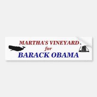 Martha's Vineyard para Barack Obama 2012 Pegatina Para Auto