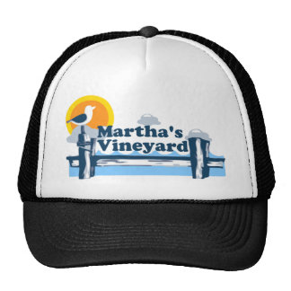 "Martha's Vineyard ""Pier"" Design. Trucker Hat"