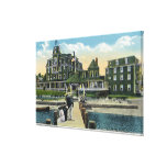 Martha's Vineyard, Pier View of the Wesley House Canvas Prints