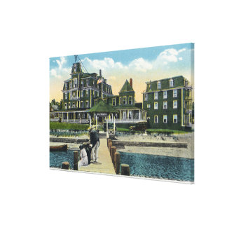 Martha's Vineyard, Pier View of the Wesley House Canvas Print