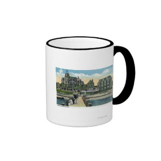 Martha's Vineyard, Pier View of the Wesley House Ringer Coffee Mug