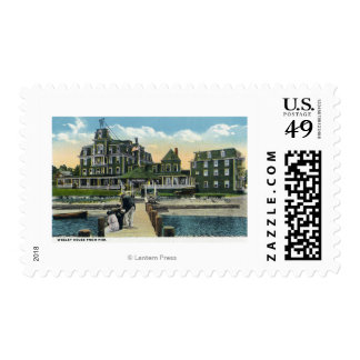 Martha's Vineyard, Pier View of the Wesley House Postage