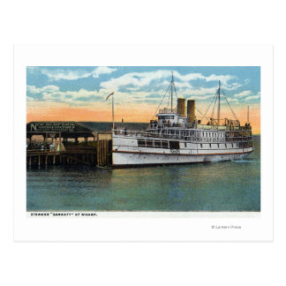 Martha's Vineyard, Sankaty Steamer at Wharf Postcard