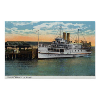 Martha's Vineyard, Sankaty Steamer at Wharf Poster