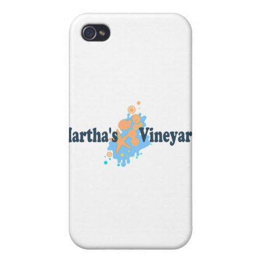 "Martha's Vineyard ""Seashells"" Design. Case For iPhone 4"
