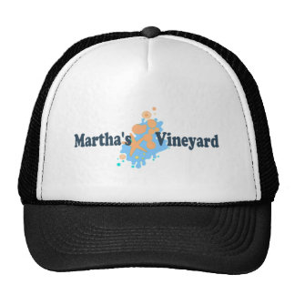 "Martha's Vineyard ""Seashells"" Design. Trucker Hat"