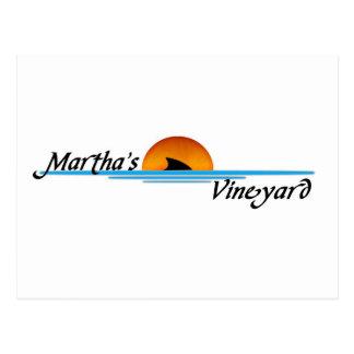 Marthas Vineyard Shark Postcard