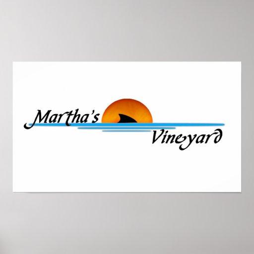 Marthas Vineyard Shark Poster