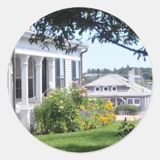 Martha's Vineyard Summer Classic Round Sticker