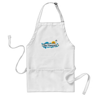 "Martha's Vineyard ""Surf"" Design. Adult Apron"