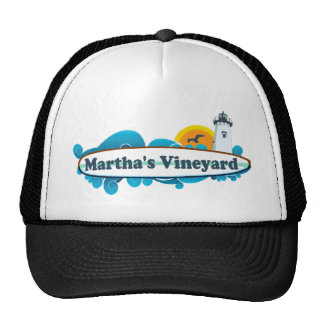 "Martha's Vineyard ""Surf"" Design. Trucker Hat"