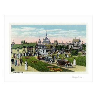 Martha's Vineyard, View of Ocean Avenue Postcard