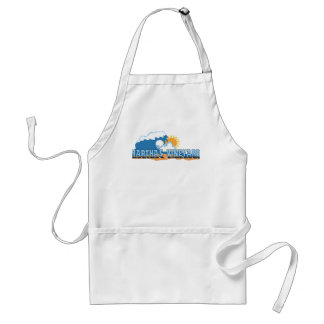 "Martha's Vineyard ""Waves"" Design. Adult Apron"