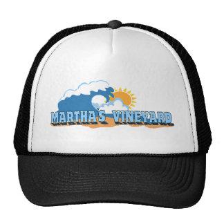 """Martha's Vineyard """"Waves"""" Design. Trucker Hat"""