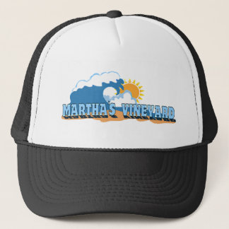"Martha's Vineyard ""Waves"" Design. Trucker Hat"