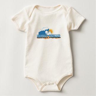 """Martha's Vineyard """"Waves"""" Design. Baby Bodysuit"""